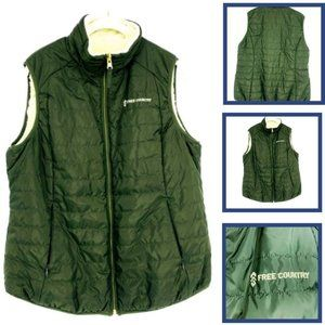 Free Country Women's Puff Vest Shearling Lined M